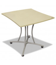 "Linea Italia Trento TR702 33"" W x 31.5"" D Palermo Meeting Table (Shown in Oatmeal)"