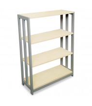 Linea Italia Trento TR735OAT 3-Shelf Steel Frame Laminate Bookcase in Oatmeal Finish