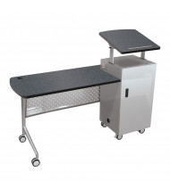 "Balt 58229 Trend 60"" W Height Adjustable Mobile Podium Desk (Shown in Graphite Nebula)"