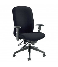 Global Truform TS5450-3 Fabric Multi-Tilter High-Back Office Chair. Shown in Black