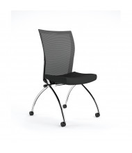 Mayline Valore TSH2 2-Pack Mesh-Back Fabric Nesting Chair (Shown in Black)