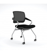 Mayline Valore TSM2 2-Pack Mesh-Back Fabric Nesting Chair (Shown in Black)