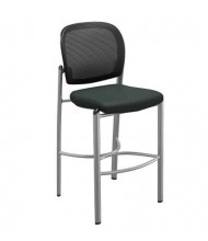 Mayline Valore TSS2 2-Pack Mesh-Back Fabric Low-Back Bistro Stool (Shown in Black)