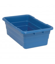 "Quantum Storage 25-1/8"" D x 16"" W Cross Stack Plastic Storage Tubs, 6 Pack (Shown in Blue)"