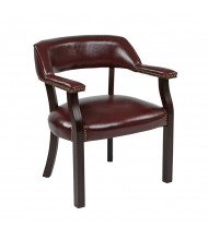 Office Star Traditional Vinyl Wood Guest Chair