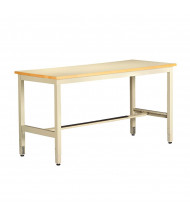 Tennsco ESD Anti-Static Top Electronics Workbenches, Adjustable Legs (Shown in Sand)