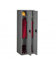 "Tennsco Single Tier 2 Wide Locker without Legs 18"" W x 21"" D x 72"" H (Shown in Medium Grey)"