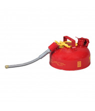 """Eagle Type II 1 Gallon Galvanized Safety Can, 7/8"""" Flex Spout (Shown in Red)"""