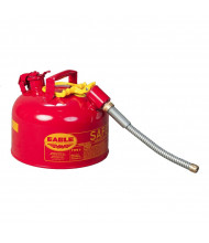 """Eagle Type II 2 Gallon Galvanized Safety Can, 5/8"""" Flex Spout (Shown in Red)"""
