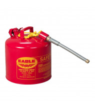 """Eagle Type II 5 Gallon Galvanized Safety Can, 5/8"""" Flex Spout (Shown in Red)"""