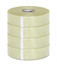 """General Supply 3"""" x 1500 yds Clear Packaging Tape, 3"""" Core, 4-Carton"""
