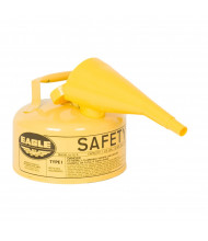 Eagle Type I 1 Gallon Galvanized Steel Metal Safety Can with F-15 Funnel (yellow)