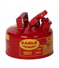 Eagle Type I 1 Gallon Galvanized Steel Metal Safety Can (red)