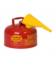 Eagle Type I 2 Gallon Galvanized Steel Metal Safety Can with F-15 Funnel (red)