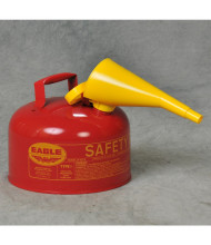 Eagle Type I 2.5 Gallon Galvanized Steel Metal Safety Can with Funnel (Shown in Red)