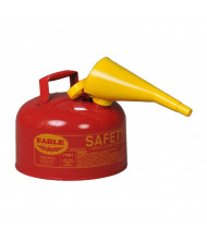 Eagle Type I 2.5 Gallon Galvanized Steel Metal Safety Can with F-15 Funnel (red)