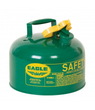 Eagle Type I 2.5 Gallon Galvanized Steel Metal Safety Can (Shown in Green)