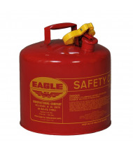 Eagle Type I 5 Gallon Galvanized Steel Metal Safety Can (red)