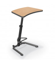 "Balt Up-Rite 26.6"" W x 20"" D Adjustable Height Sit Stand Workstation 90532 (Shown in Castle Oak)"