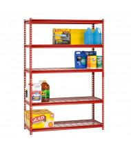"Sandusky Z-Beam 5-Shelf 18"" D x 48"" W x 72"" H Wire Shelf Open-Back Boltless Shelving Unit"
