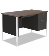 "Alera 45"" W Straight Front Steel Pedestal Teacher Desk"