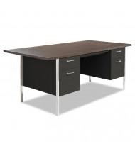 """Alera 72"""" W Straight Front Steel Double Pedestal Teacher Desk"""