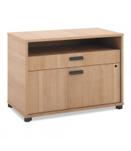 """Basyx MG30FDWHA1 Manage 30"""" W x 16"""" D 2-Drawer File Center Cabinet, Wheat"""