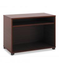 "Basyx Manage 36"" W x 16"" D 2-Shelf Open File Center Cabinet, Chestnut"