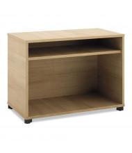 "Basyx Manage 36"" W x 16"" D 2-Shelf Open File Center Cabinet, Wheat"