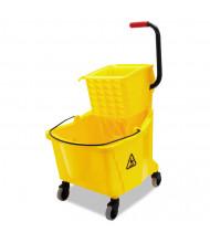 "Boardwalk 38.6"" H x 16.5"" W Pro-Pac Side-Squeeze Wringer/Bucket 35 qt., Yellow"