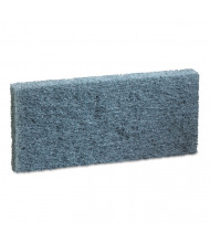 "Boardwalk 4.625"" L x 10"" W Medium-Duty Scour Pad, Blue, Pack of 20"