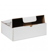 """Duck 9"""" x 6"""" x 3"""" Self-Locking Mailing Boxes, White, Pack of 25"""