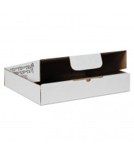 "Duck 11"" x 8"" x 2"" Self-Locking Mailing Boxes, White, Pack of 25"