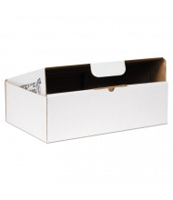 "Duck 13"" x 9"" x 4"" Self-Locking Mailing Boxes, White, Pack of 25"