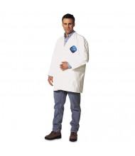 DuPont Tyvek Lab Coat, White, Snap Front, 2 Pockets, X-Large, 30/Pack