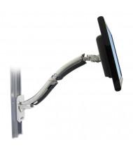 "Ergotron MX Wall Mount Arm For Monitors Up To 42"", Polished Aluminum"