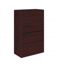"""HON 10516NN 4-Drawer 36"""" Wide Lateral File Cabinet, Letter & Legal, Mahogany"""
