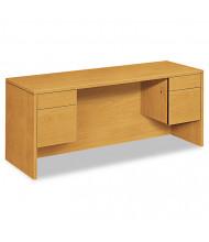 "HON 10500 72"" W Double Pedestal Credenza Office Desk"