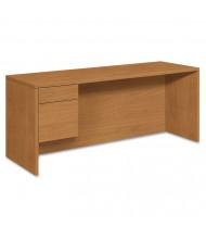 """HON 10500 72"""" W Single Pedestal Credenza Office Desk, Left"""