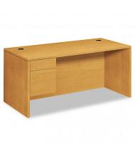 "HON 10500 66"" W Single Pedestal Office Desk, Left"