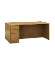 "HON 10500 72"" W Single Pedestal Office Desk, Left"