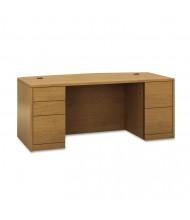 """HON 10500 72"""" W Bow Front Double Pedestal Office Desk"""