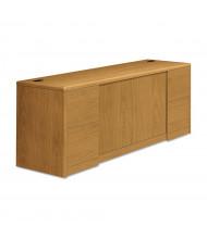 "HON 10742CC 72"" W x 24"" D 4-Drawer & 2-Door Office Cabinet, Harvest"