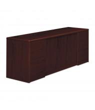 "HON 10742NN 72"" W x 24"" D 4-Drawer & 2-Door Office Cabinet, Mahogany"