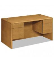 "HON 10700 60"" W Double Pedestal Office Desk"