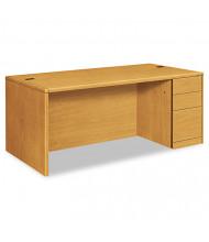 "HON 10700 72"" W Single Pedestal Office Desk, Right"