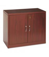 """HON Valido 36"""" W Storage Cabinet with Doors, Mahogany"""