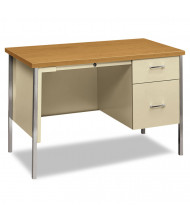 "HON 34000 45-1/4"" W Single Pedestal Teacher Desk, Right"