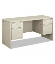 "HON 38000 60"" W Double Pedestal Credenza Office Desk"