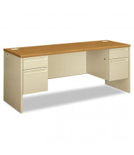 "HON 38000 72"" W Double Pedestal Credenza Desk"